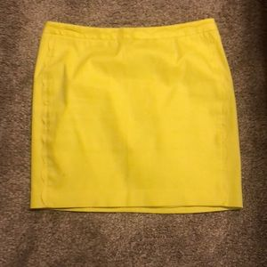 Yellow Banana Republic skirt.